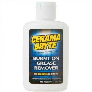 Cerama bryte burnt on grease remover for ceramic cook tops