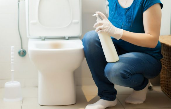 How to clean limescale from toilet bowl