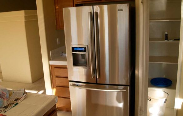 best way to clean a stainless steel fridge