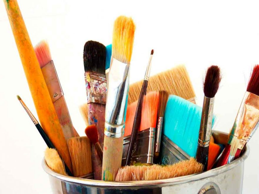 How to clean an oil paint brush