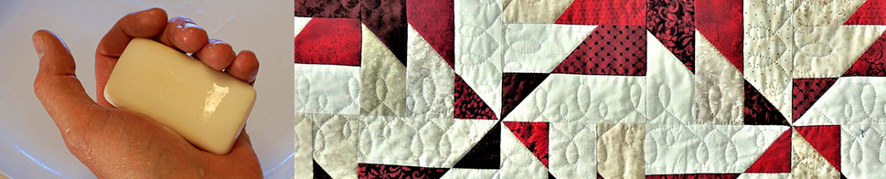 How to clean your quilt using mild hand washing soap